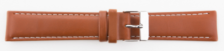 PULSEIRA COURO STILLI SD401 MC 20MM MARROM CLARO C/BRANCA